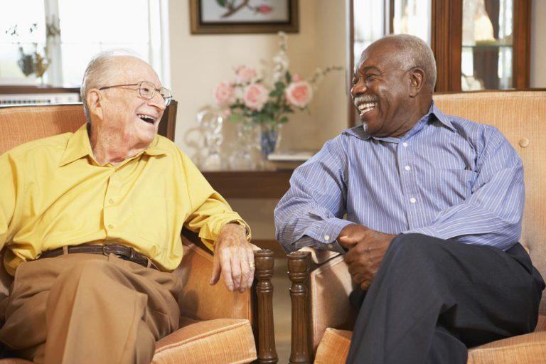 Orchard Ridge Residences | Senior men laughing