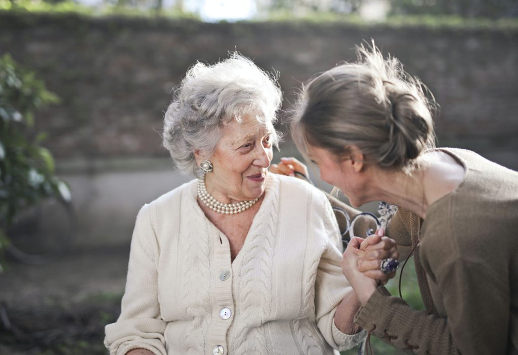 Orchard Ridge Residences | Senior woman with her caregiver