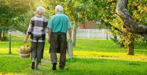 Orchard Ridge Residences | Seniors walking outdoors
